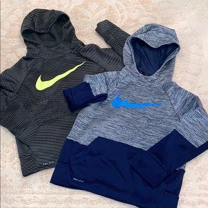 Boys Nike Dri-fit Hoodie 2 Sweatshirt Small swoosh